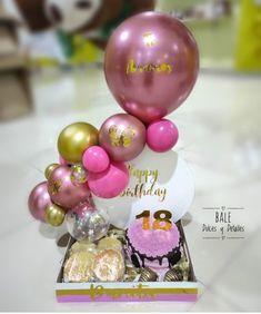 Balloon Box, Balloon Bouquet, Balloon Arch, Girl Birthday Decorations, Balloon Decorations Party, Decoration Plante, Custom Balloons, Birthday Box, Cheap Christmas