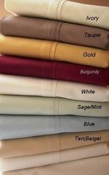 """16"""" Deep Pocket -5 SIZES-1200TC Solid Egyptian Cotton Bed Sheet Sets Color: Burgundy Size: Full"""