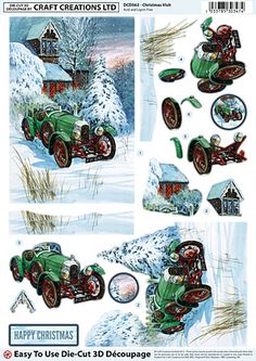 Craft Creations A4 die cut decoupage - Christmas Visit