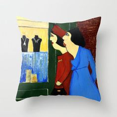 awesome painting on a pillow