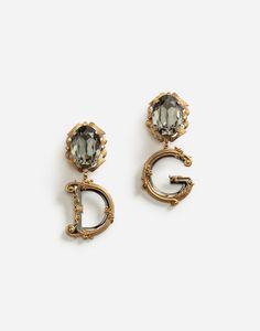 Gioielli e Bijoux Donna | Dolce&Gabbana - ORECCHINI PENDENTI CON ELEMENTI DECORATIVI