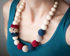 Nursing necklace / Teething necklace / Crochet by SvetlanaN