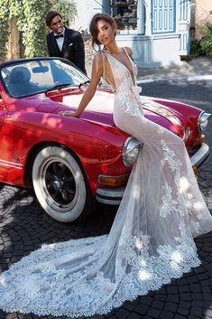 Sexy Mermaid Wedding Dresses with Wrap Deep v Neck Backless wedding dress Full Lace Appliqued Illusion Customized Vestido De Noiva – WEDDING Expensive Wedding Dress, Cheap Wedding Dress, Wedding Dresses 2018, Bridal Dresses, Vestidos Vintage, Backless Wedding, Lace Wedding, Stunning Dresses, Cheap Dresses