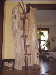 Natural Tree Furniture - Hollow Log Cat Trees - Inner platforms are designed to allow easy navigation