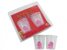 Willy Shot Glasses - Pack of 2 $12.95 FREE SHIPPING