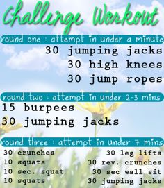 Challenge Workout