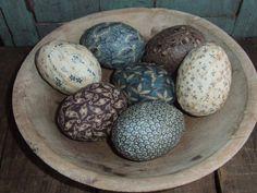 Primitive Egg Bowl Filler Ornies Rustic by TreasuredPrimitives, $18.95