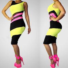 2014 New Fashion Exquisite Color Patchwork Bandage Dress Women Summer Lace Dress Sexy Club Party Dress 3 Colors 3 Size  $11.99