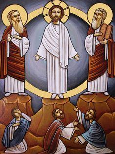 Ikone der Verklärung unseres Herrn Jesus Christus auf dem Berge Tabor   Koptisch