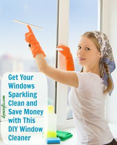 Get Your Windows Sparkling Clean and Save Money with This DIY Window Cleaner Keeping your windows clean does not have to be expensive. You can make your own cleaner and with just three ingredients. If you have dishwashing liquid, vinegar and water then you have everything you need to make a window cleaner that is cheap and best of all, friendly for the environment.