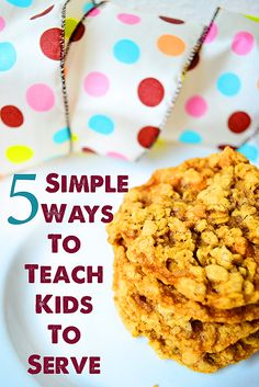 Giving Back: 5 Simple ways to teach kids to serve others - these self confidence boosters will bring the kiddos much joy knowing they contributed and helped others. What a truly neat idea!