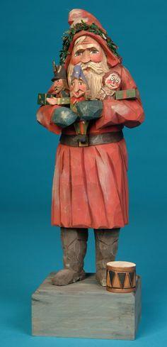 The Whimsical Whittler: New 2012 Santa Carvings