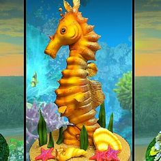 Seahorse Fish Cake by Timbo Sullivan........For more info, Please visit: https://cakerschool.com/