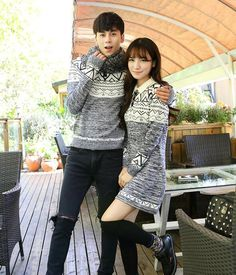 b176941e72 Korean matching couple clothes lovers autumn and winter argyly pattern mens  pullover shirt sweater womens full