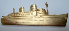 Signed designer cruiseship pin/brooch- Super gift for a cruise goer! Love this #sideeffectsny Etsy
