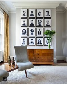 Pin on Inspirational pics - design Bedroom Frames, Gallery Wall Frames, Gallery Walls, Portrait Wall, Wall Decor Pictures, Front Rooms, Decoration, Fabric Design, Home Goods