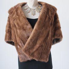 Mink Stole, Cruella Deville, Honey Brown, Absolutely Gorgeous, Beautiful, Vintage Fur, Silk Satin, 1960s, Winter Fashion