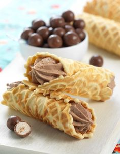 Chocolate Malt Pizzelle: my favorite movie candy gets a makeover from King Arthur Flour