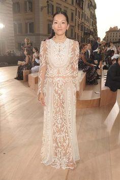 Tina Leung @ Valentino 'Mirabilia Romae' Haute Couture Fall 2015 Front Row - July 9, 2015