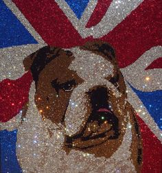 It took 36,000 Swarovski crystals for Gemstone Creative to make this British Bulldog. One for my wall....