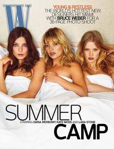 W Magazine July 2008, Daria Werbowy, Kate Moss & Lara Stone