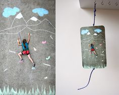 More chalk art fun from Modern Parents Messy Kids