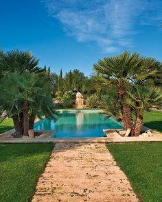 Luxurious pool at a Majorcan old-house