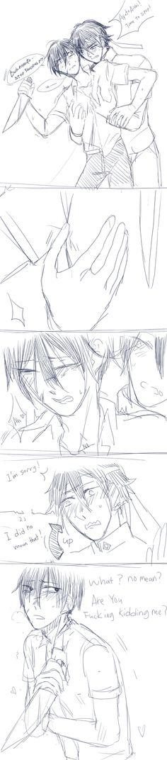 (Ayando yaoi)accident by Koumi05