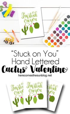 These hand lettered cactus valentines are sure to be a favorite with the kids. Free printable! Just download and print! Happy Valentine Day HAPPY VALENTINE DAY | IN.PINTEREST.COM WALLPAPER #EDUCRATSWEB