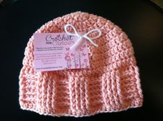 Crochet for Cancer Basketweave Cap.  free pattern