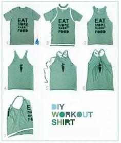 Cómo convertir tu camiseta en una blusa de tirantes