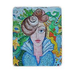 ad7c34454060 Kids Sport Game · ALIREA Sea Art Portrait Of Girl Super Soft Warm Blanket  Lightweight Throw Blankets for Bed Couch