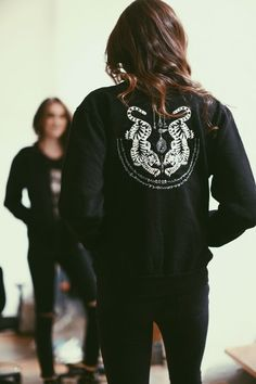 Brandy ♥ Melville | Nella Tiger Embroidery Bomber Jacket - Graphics