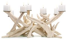 Driftwood Candelabra - eclectic - candles and candle holders - by Jen Going Interiors