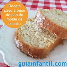 Pan de molde de cebolla, ¡casero y paso a paso! http://www.guiainfantil.com/recetas/pizzas-y-panes/pan-de-cebolla-receta-de-pan-de-molde-para-ninos/