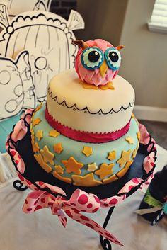SnowyBliss: Night Owl Party Cake
