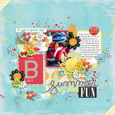 A Boy's Summer - Bundle by Red Ivy Design http://www.sweetshoppedesigns.com/sweetshoppe/product.php?productid=34442&cat=824&page=1  Some of the flowers are from these kits also by Red Ivy Design: Silly Face, Happy Garden and Believe in Yourself  About This Life by Two Tiny Turtles http://www.sweetshoppedesigns.com/sweetshoppe/product.php?productid=33094&cat=796&page=1