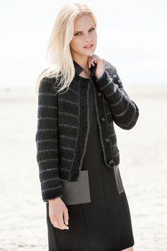 Lana Grossa JACKE MIT MUSTERSTREIFEN AM Cashmere/Splendid - FILATI Handstrick No. 57 (Herbst/Winter 2014/15) - Modell 5 | FILATI.cc WebShop
