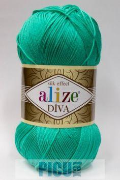 Poze Fir de tricotat sau crosetat - Fir microfibra ALIZE DIVA TURCOAZ 610 Diva, Coil Out, Godly Woman