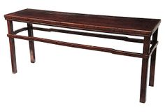 Walnut Console Table on OneKingsLane.com