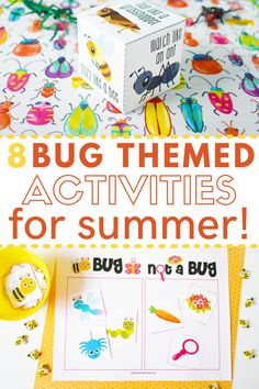 Looking for fun and exciting activities to keep your kids busy this summer? Everyone will love these bug themed activities perfect for preschool and elementary aged kids on summer break. Kids learn important science skills like classification and observation, while they stay active and engaged. Simple and easy to do activities that are perfect for kids this summer. Fun activities for parents to do with their kids and for day cares and summer camps.  #SummerActivities #STEMactivities Nature Activities, Outdoor Activities For Kids, Steam Activities, Outdoor Learning, Summer Activities For Kids, Holiday Activities, Preschool Ideas, Learning Activities, Summer Science