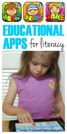 Educational Apps for Literacy ~ apps that engage kids in learning phonics and spelling for reading | This Reading Mama