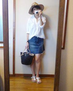 モコーデ: 久々のミニスカートの暑い日の代表に選ばれて新宿デート 8月7日