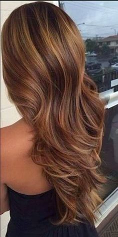 brown hair with caramel highlights - Google Search