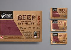 Silver Fern Farms Beef Packaging by Matt Hammond, via Behance