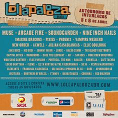 Lollapalooza Brasil 2014 terá Arcade Fire, Muse, Nine Inch Nails e Soundgarden #Lollapalooza #indierock