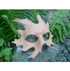 DIY Leather Oak Leaf Mask