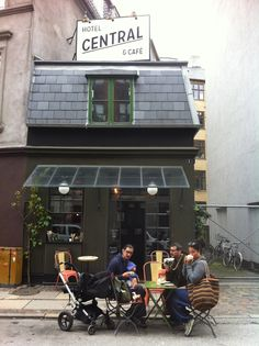 Tiny and perfect-- Hotel Central and Cafe (the smallest hotel in the world)