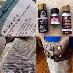 """sarayburnu: """" Cosplay Chainmail Tutorial What you need: 🗡 Rug mat 🗡 Acrylic paint 🗡 Paper/scissors for pattern To begin your chainmail, prepare your desired pattern. Cut your pattern out of the rug..."""