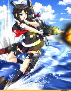 Shigure (Kantai Collection),Kantai Collection,Anime,аниме,stachz
